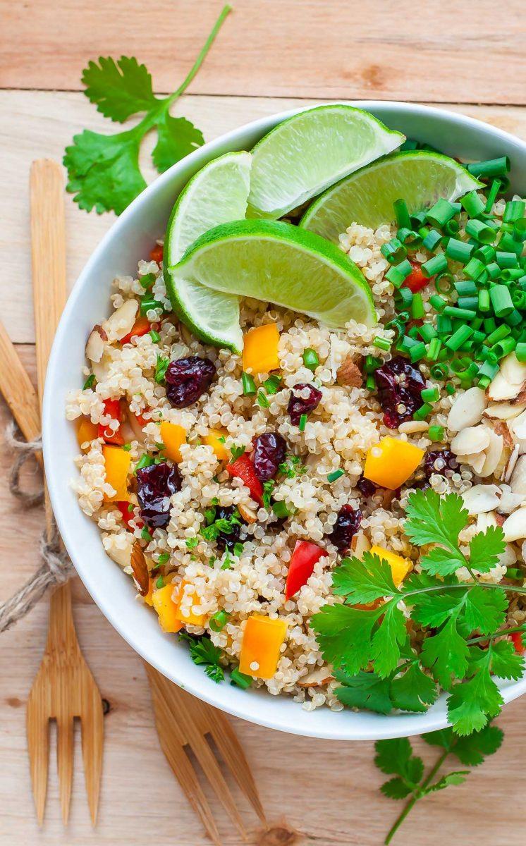 Cranberry Cilantro Quinoa Salad