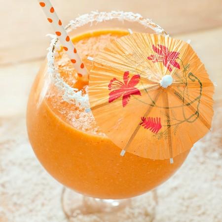 Carrot Mango Coconut Smoothie