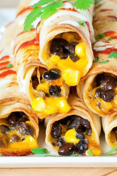 Make these easy cheesy flautas for game day!