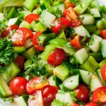 Healthy Tomato Cucumber Avocado Salad