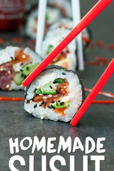 Homemade Sushi -- Bacon Avocado Tuna Sushi
