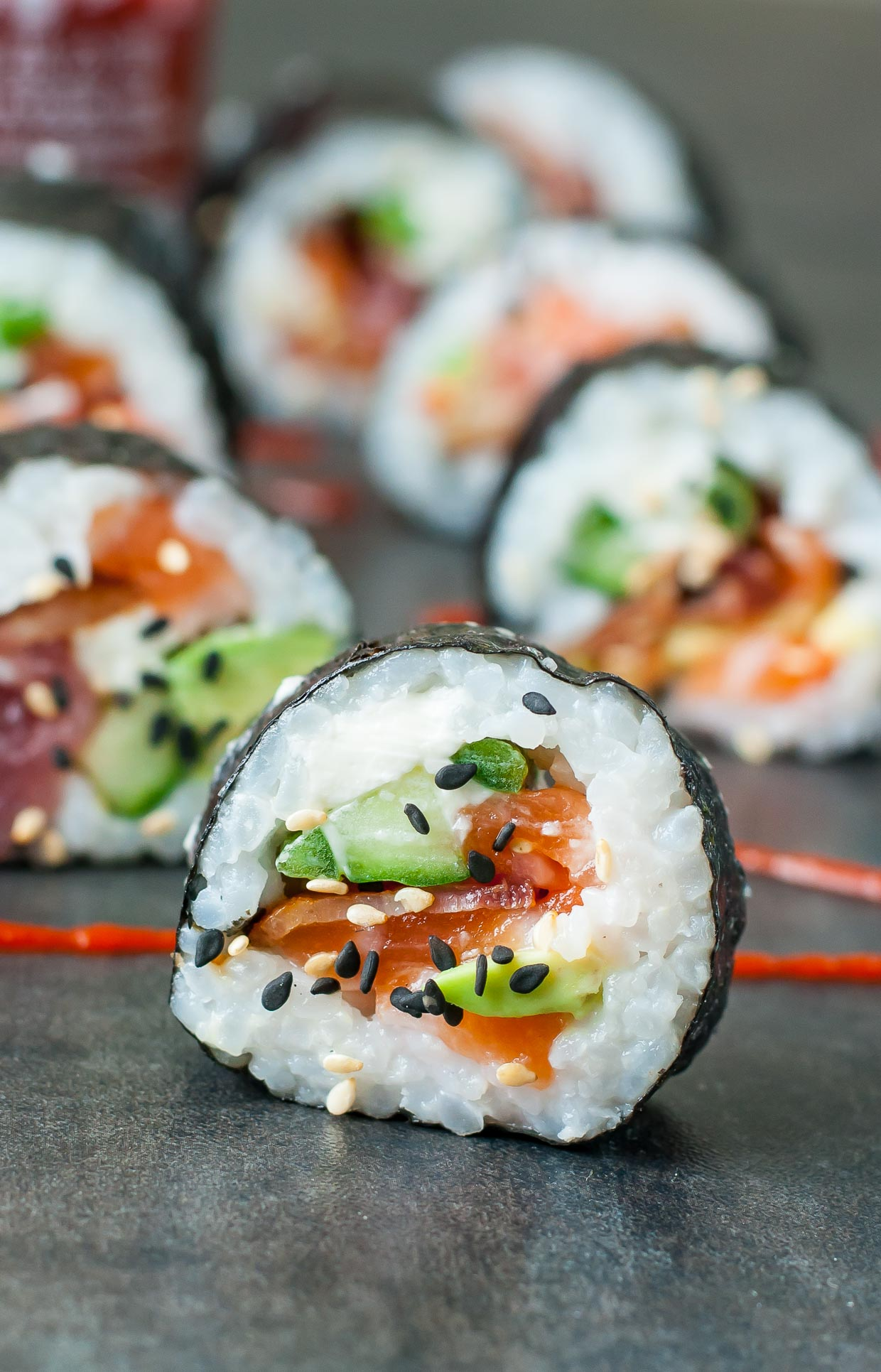 Homemade Sushi ,, These Bacon Avocado Sushi Rolls are a bit unconventional  but SO INSANELY