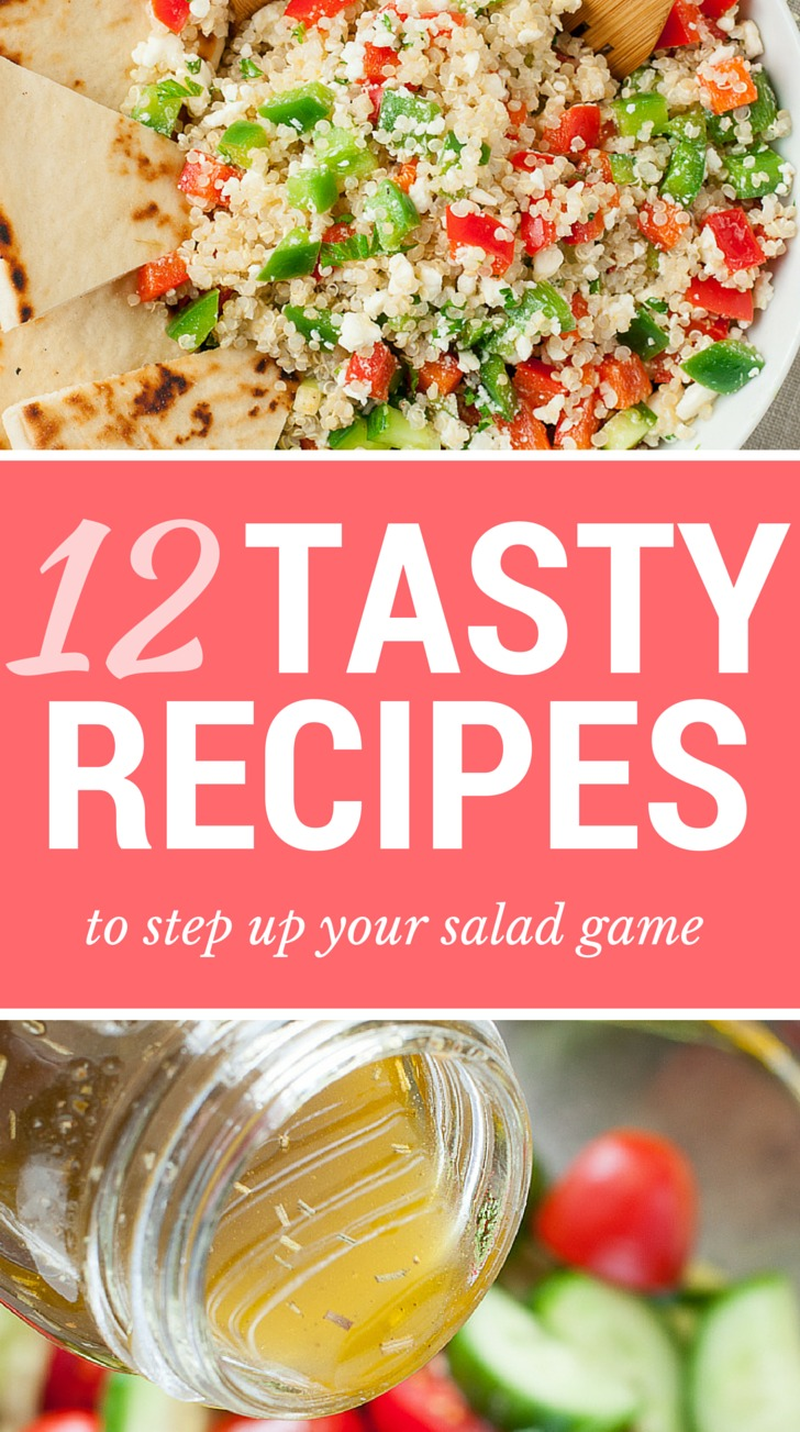12 Tasty Salad Recipes to Step Up Your Salad Game - Peas and Crayons