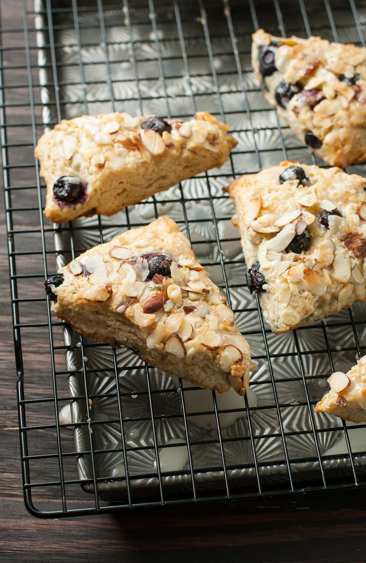 ... Bakery-Style Almond Blueberry Scones - lightened up with almond milk