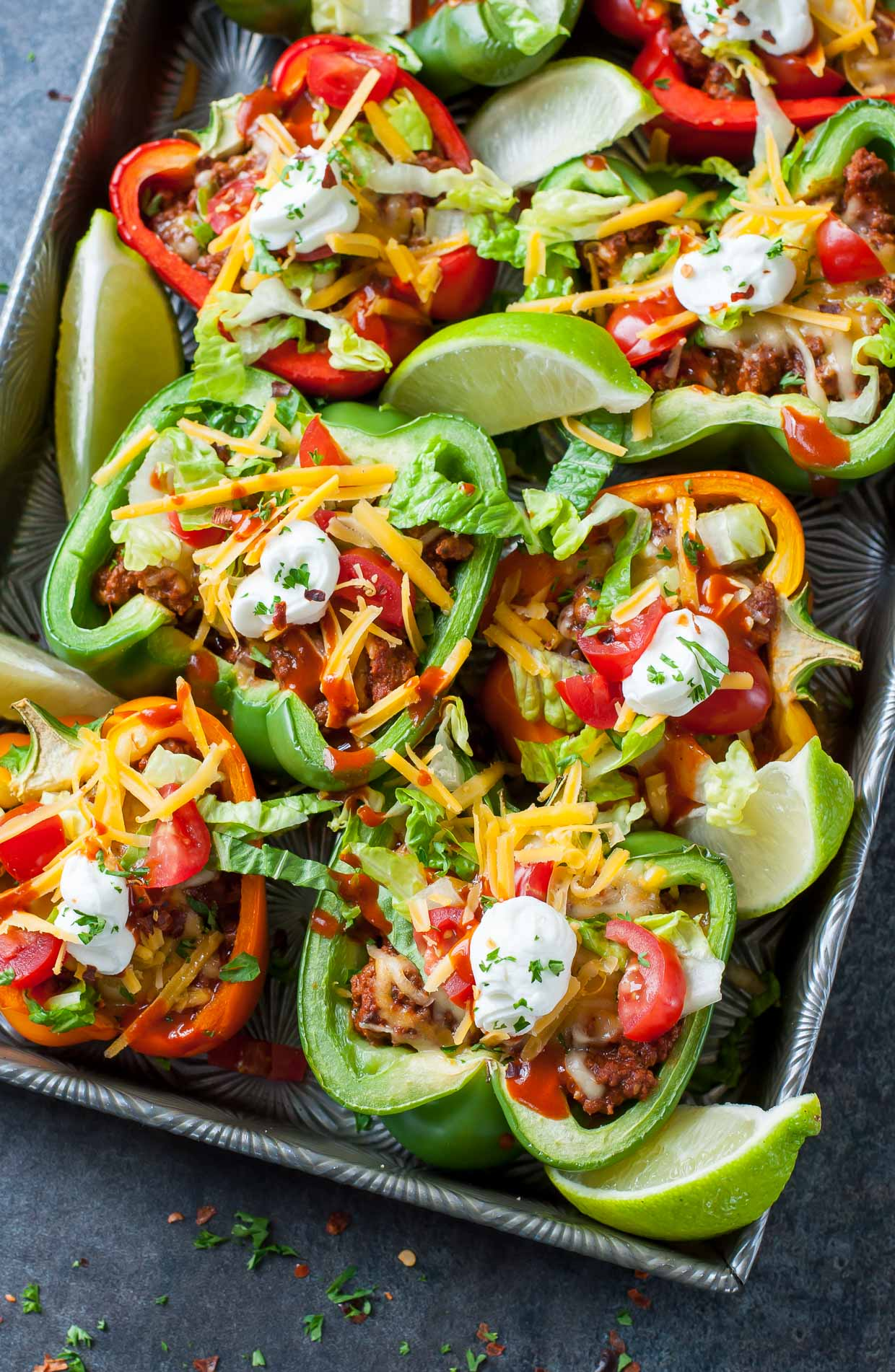 Take taco night to the next level with these Baked Bell Pepper Tacos!