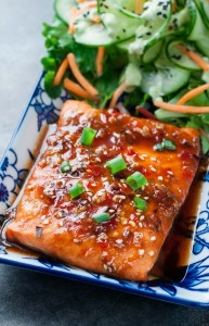 Sweet Chili Sriracha Salmon
