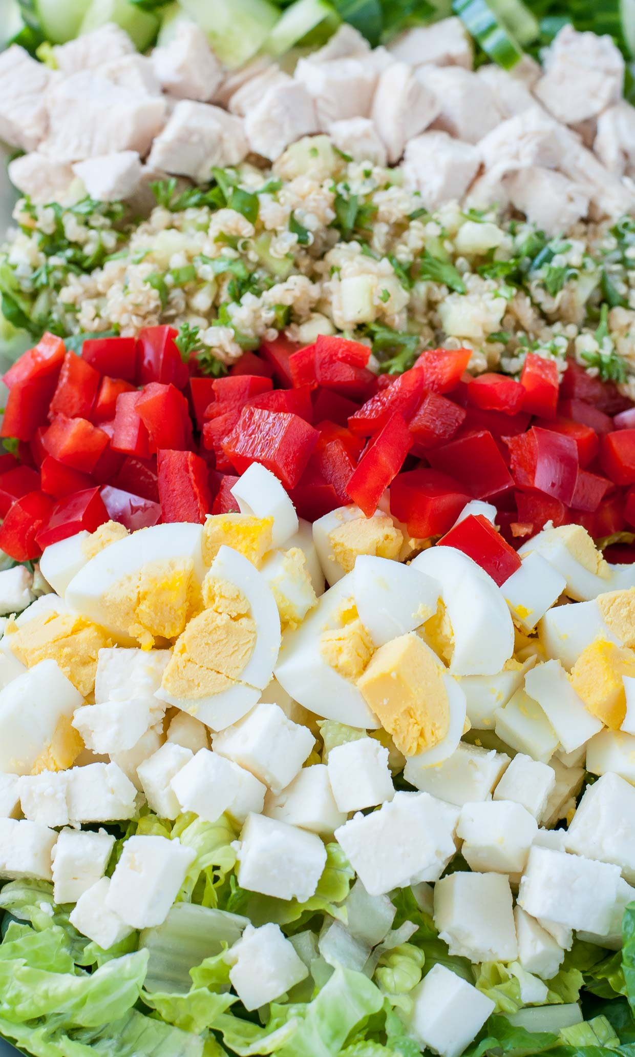 Kick up the classic cobb salad with a Mediterranean twist! This Greek Cobb Salad is loaded with flavor and makes a great healthy lunch.