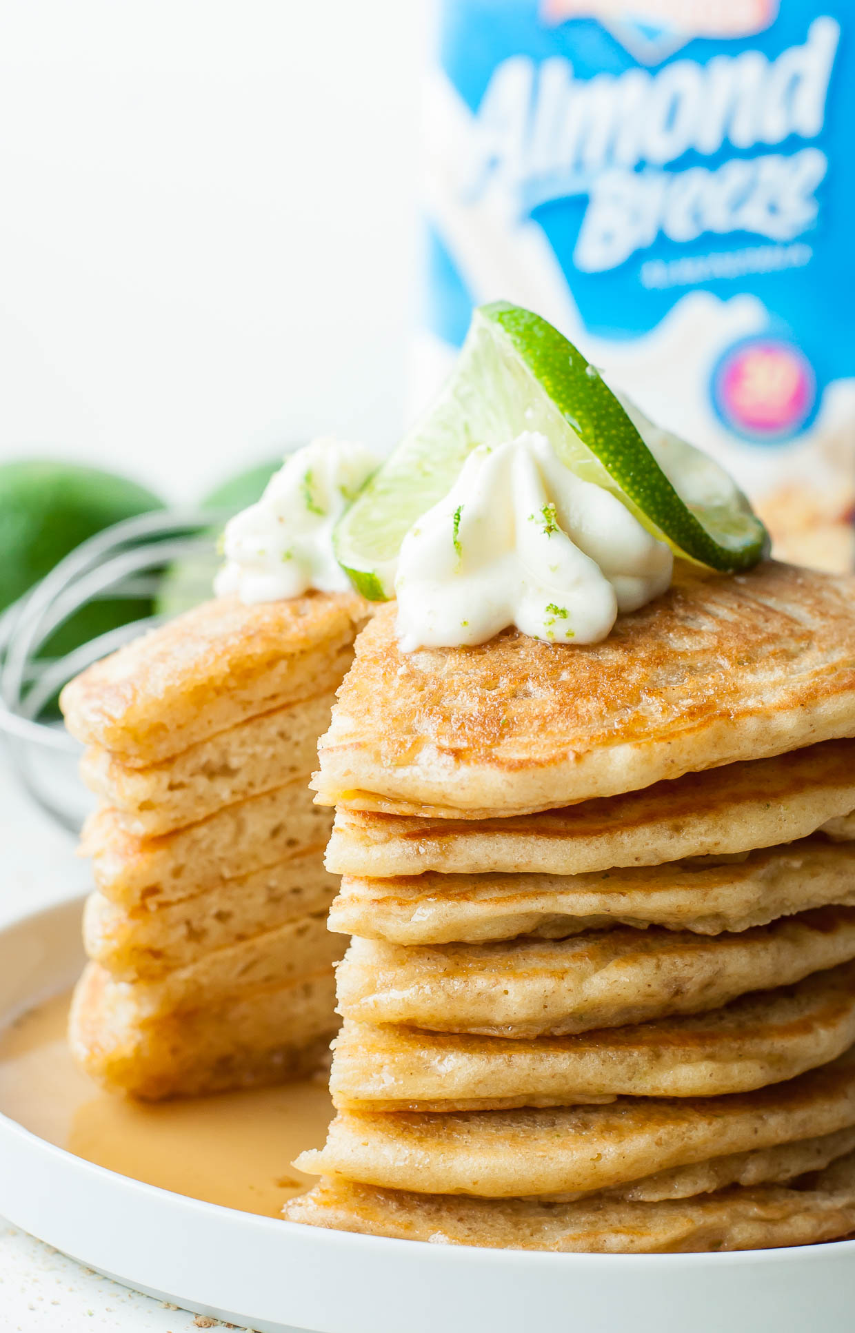 Ultra fluffy and bursting with flavor, these tasty Key Lime Pie Pancakes are guaranteed to transform breakfast into the BEST meal of the day!