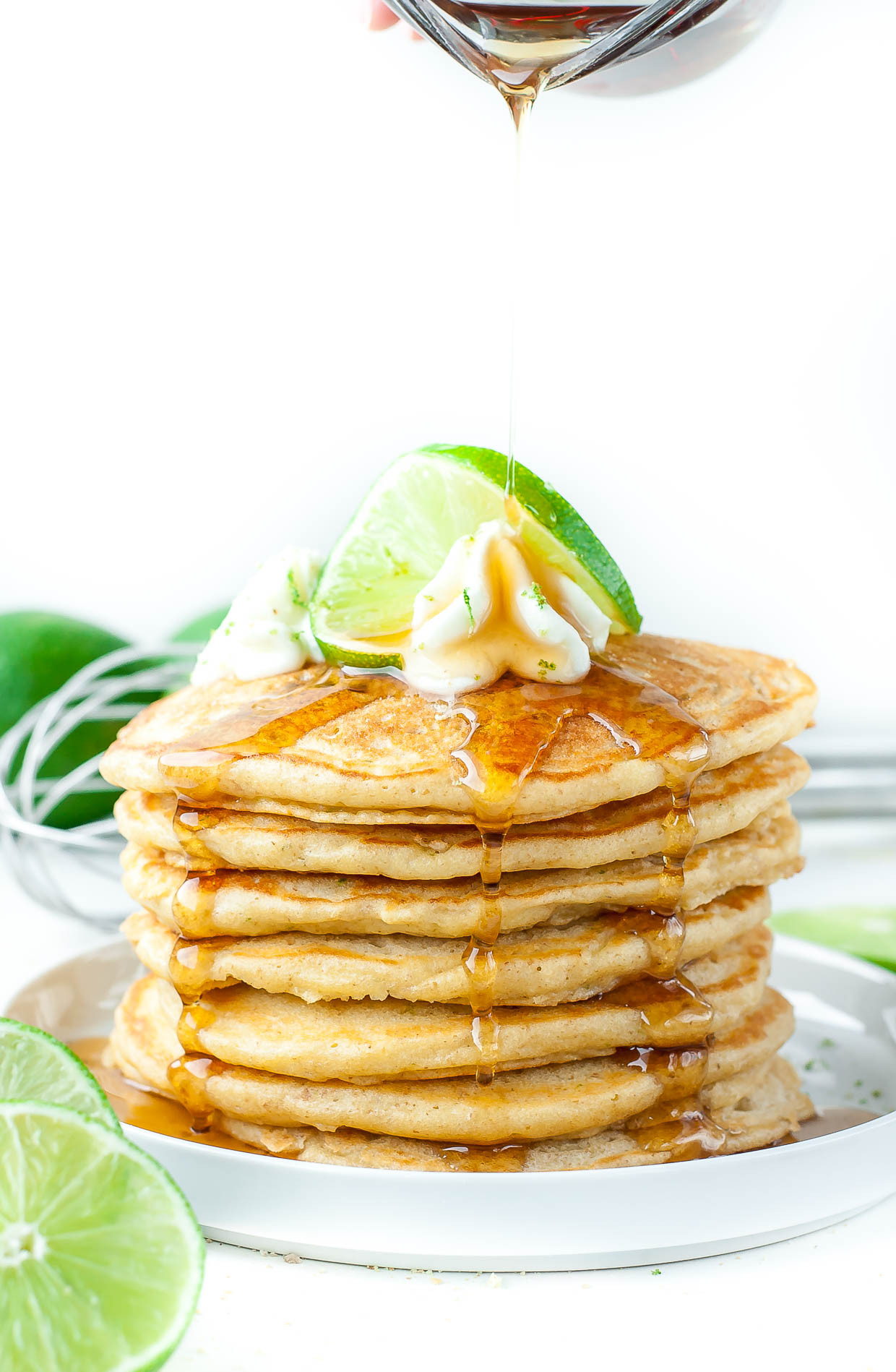 Key Lime Pie Pancakes - fluffy and delicious!