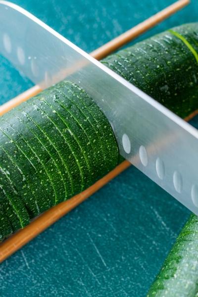 Loaded Hasselback Zucchini