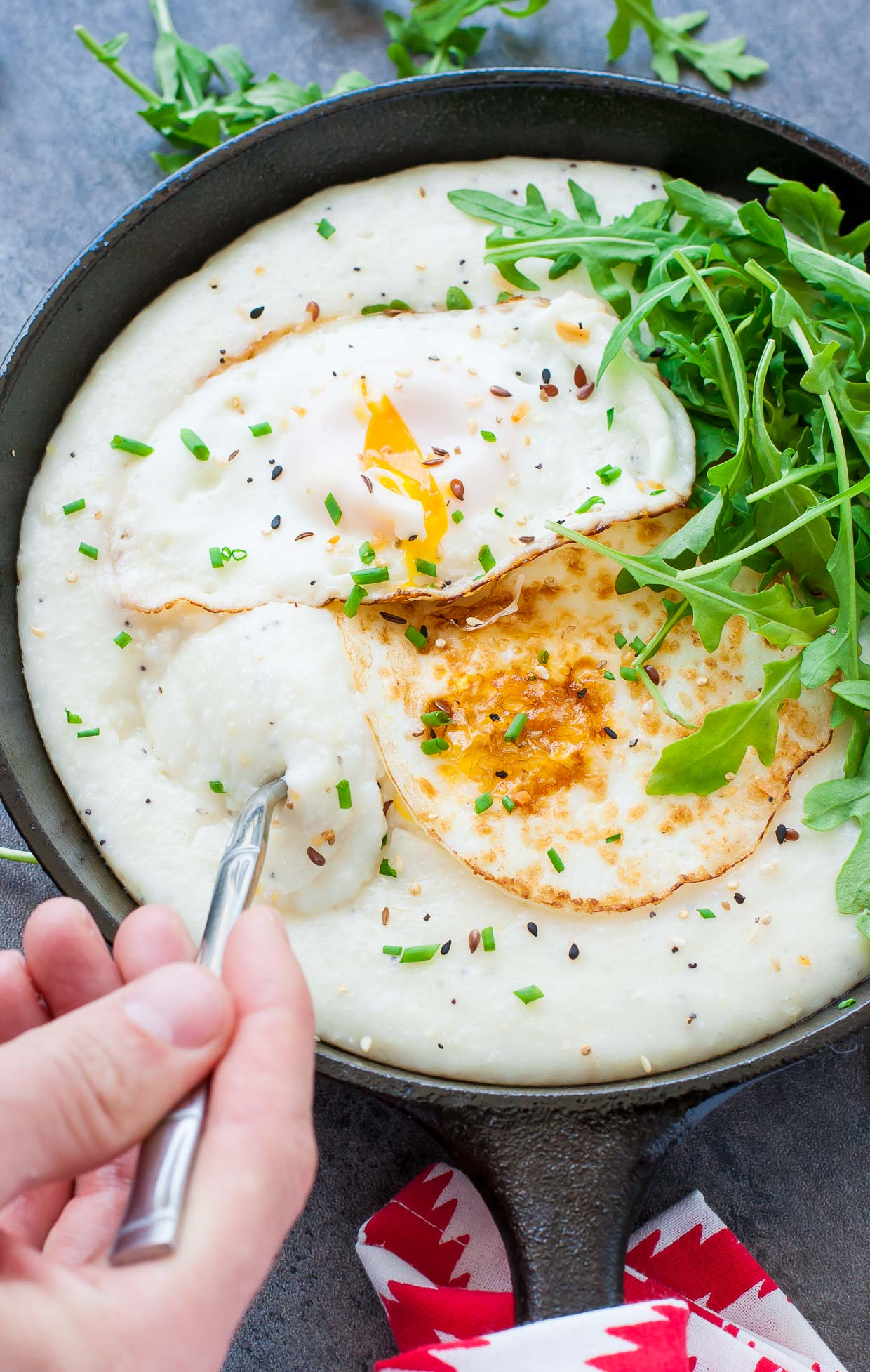 Cheese Grits Breakfast Bowls