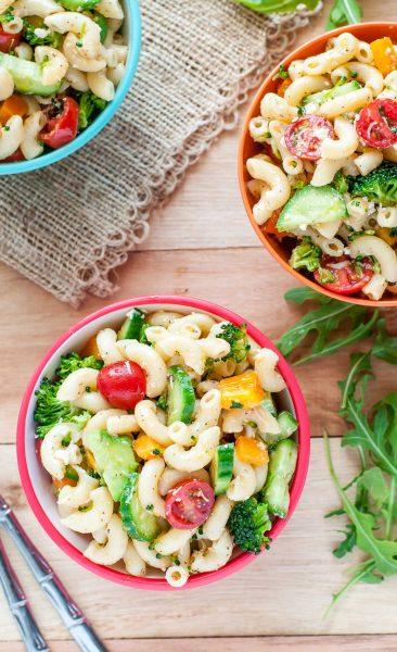 Classic Italian Veggie Pasta Salad Peas And Crayons