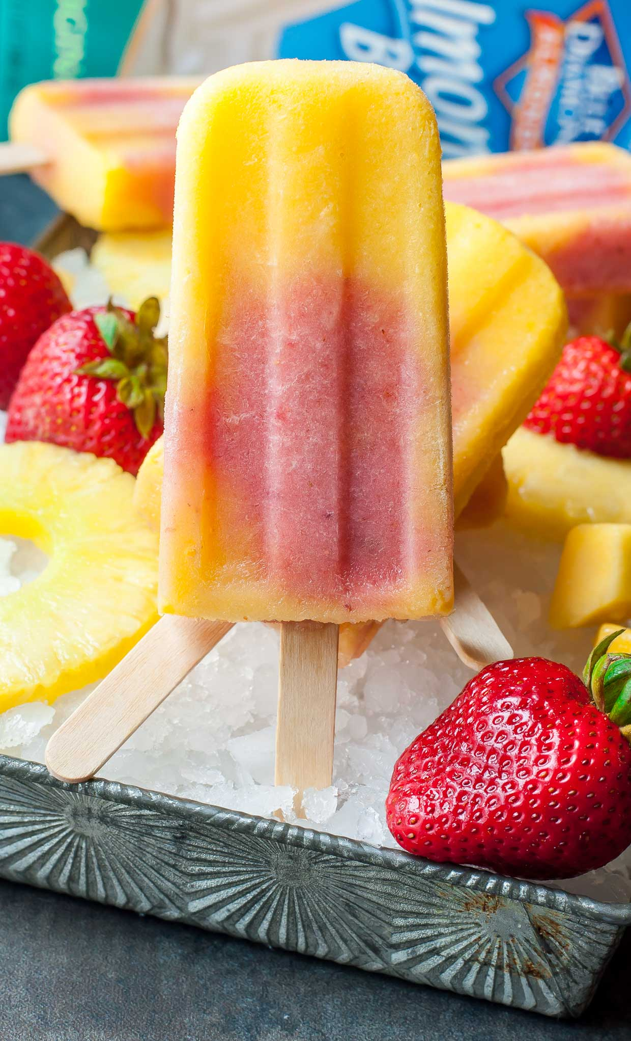 ... Mango Pineapple Strawberry Swirled Fruit Pops - Peas And Crayons