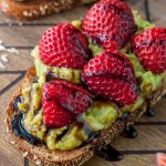 Strawberry Mango Guacamole Toast