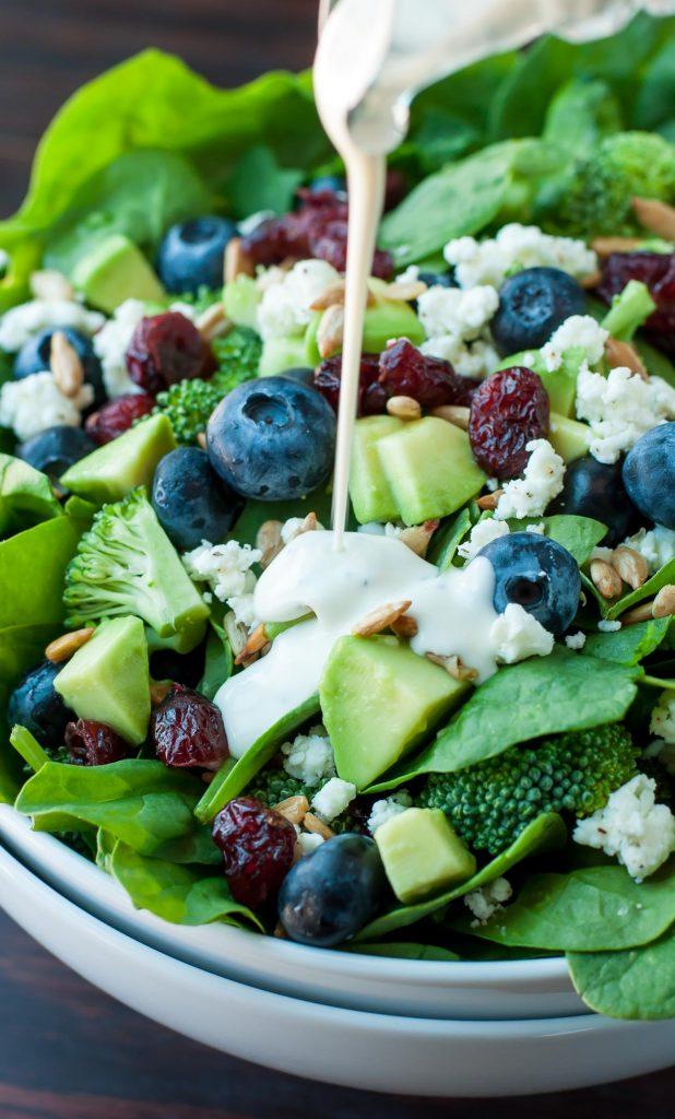 Blueberry Broccoli Spinach Salad Recipe