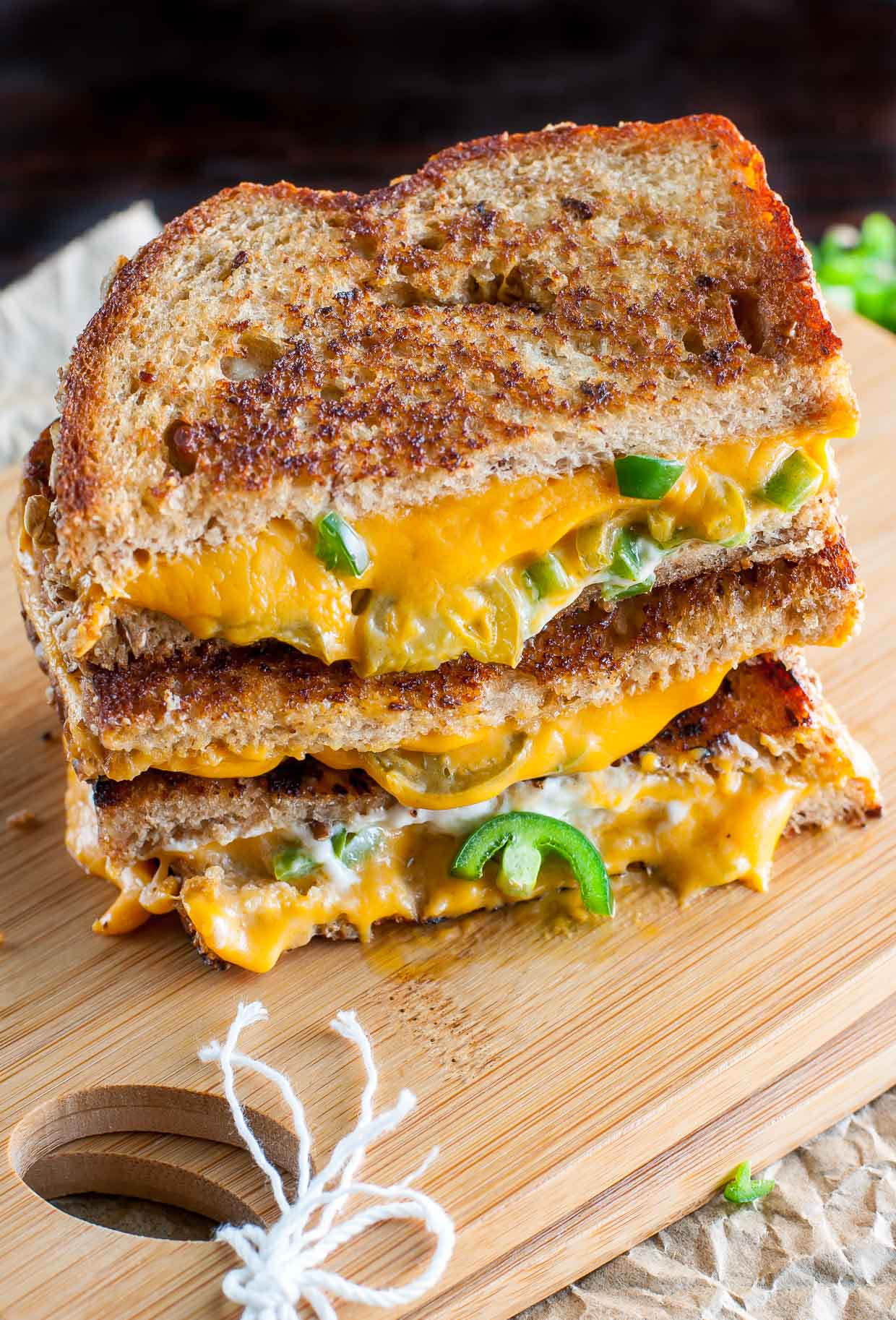 Vegan Jalapeno Popper Grilled Cheese
