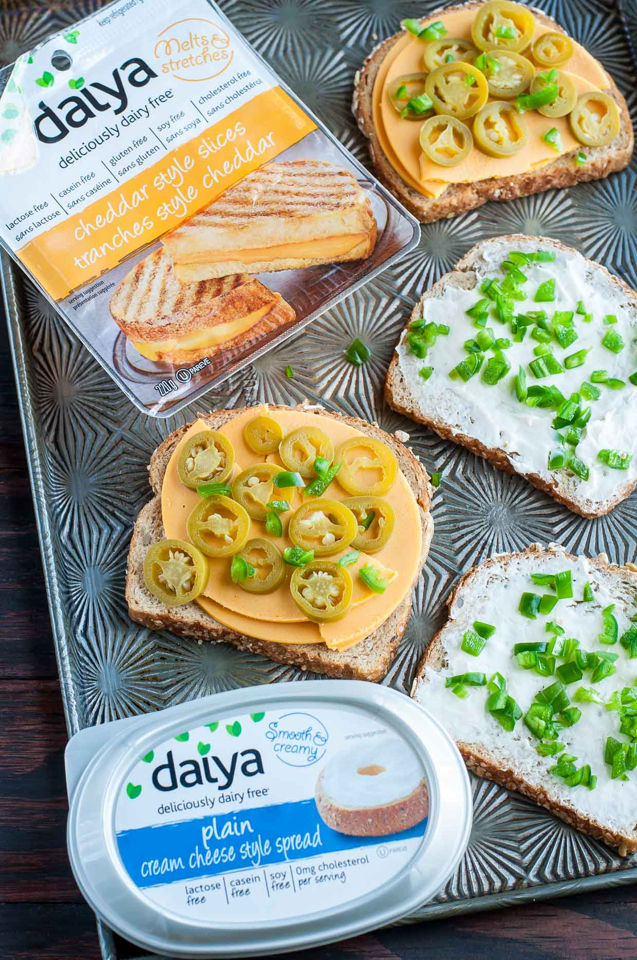 Vegan Grilled Cheese - Three Ways! Vegan Jalapeño Popper Grilled Cheese