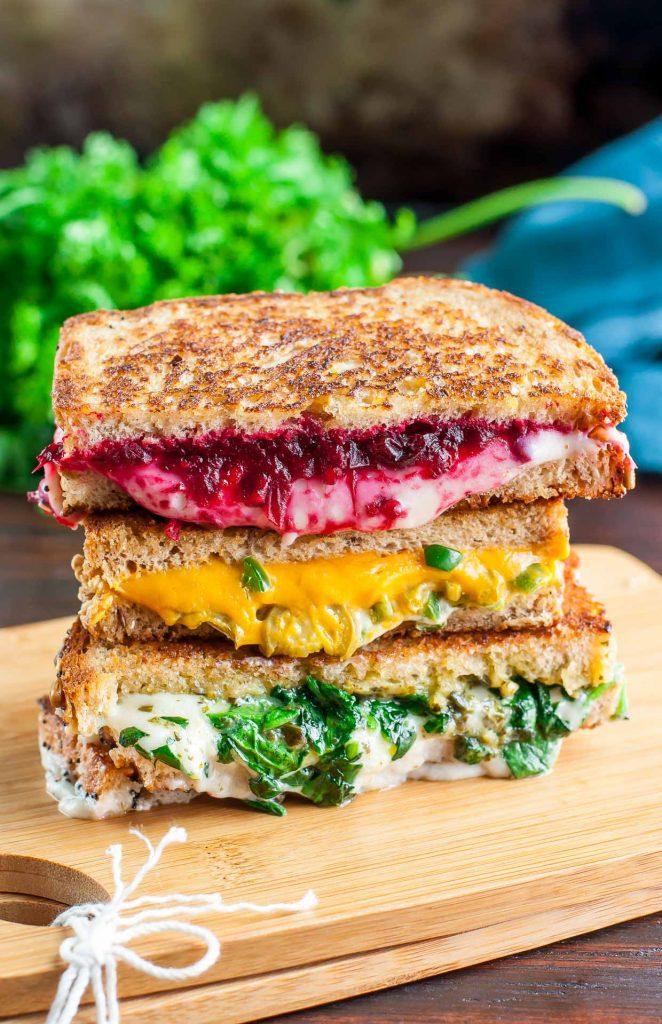 Vegetarian Sandwiches - Vegan Grilled Cheese Sandwich