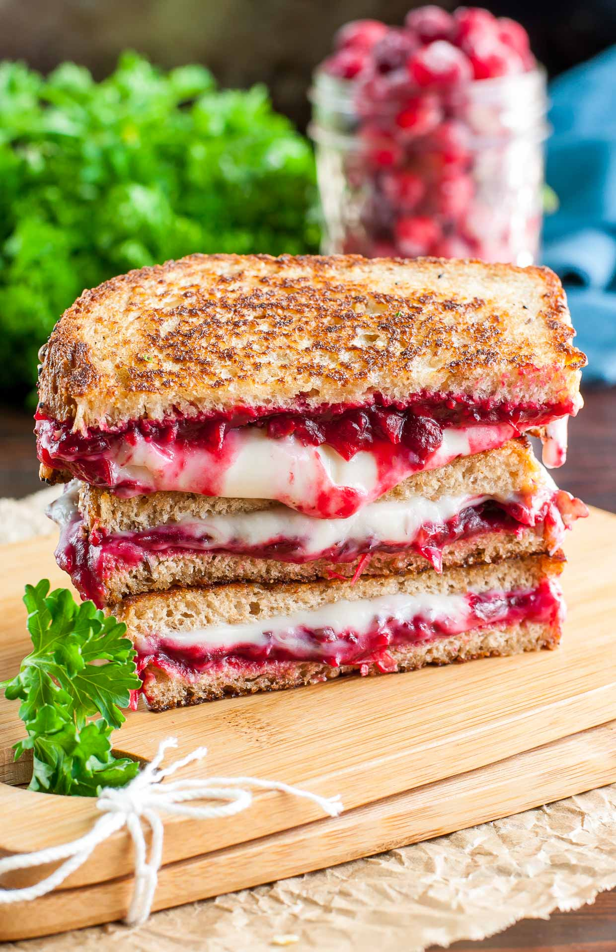 Vegan Grilled Cheese - Three Ways! Cranberry Pecan Provolone Vegan Grilled Cheese