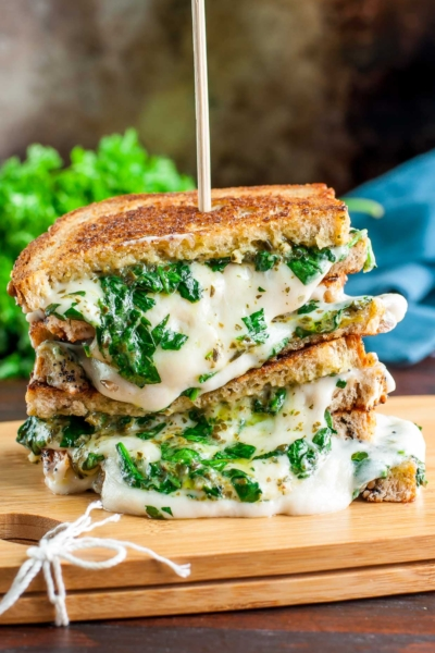 Vegan Grilled Cheese - Three Ways! VEGAN Spinach Pesto Grilled Cheese