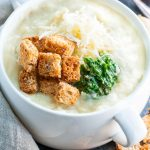 Slow Cooker Potato Soup with Pesto