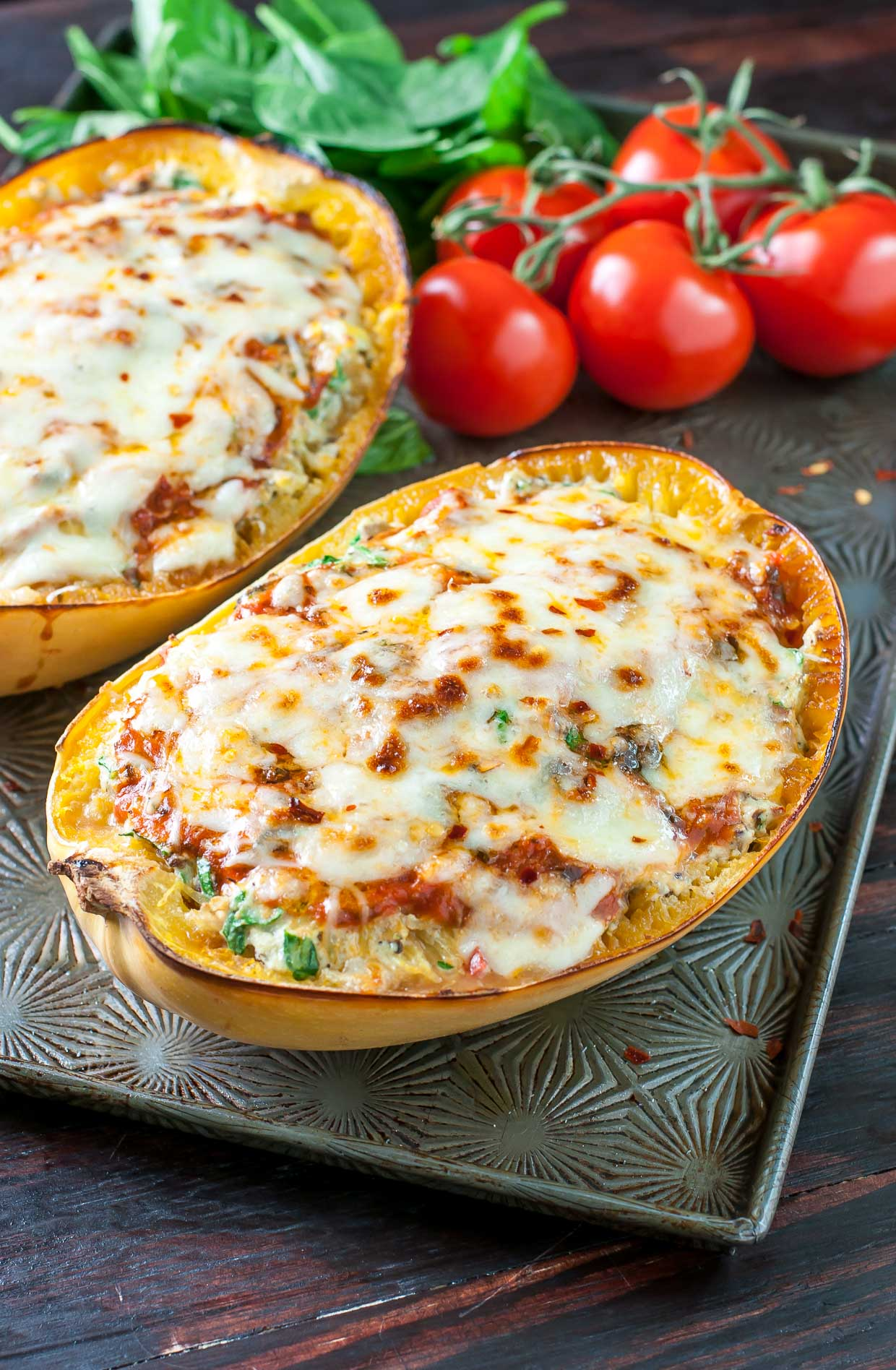 Easy cheesy vegetarian spaghetti squash lasagna peas and crayons this easy cheesy vegetarian spaghetti squash lasagna is a tasty low carb and gluten forumfinder Choice Image