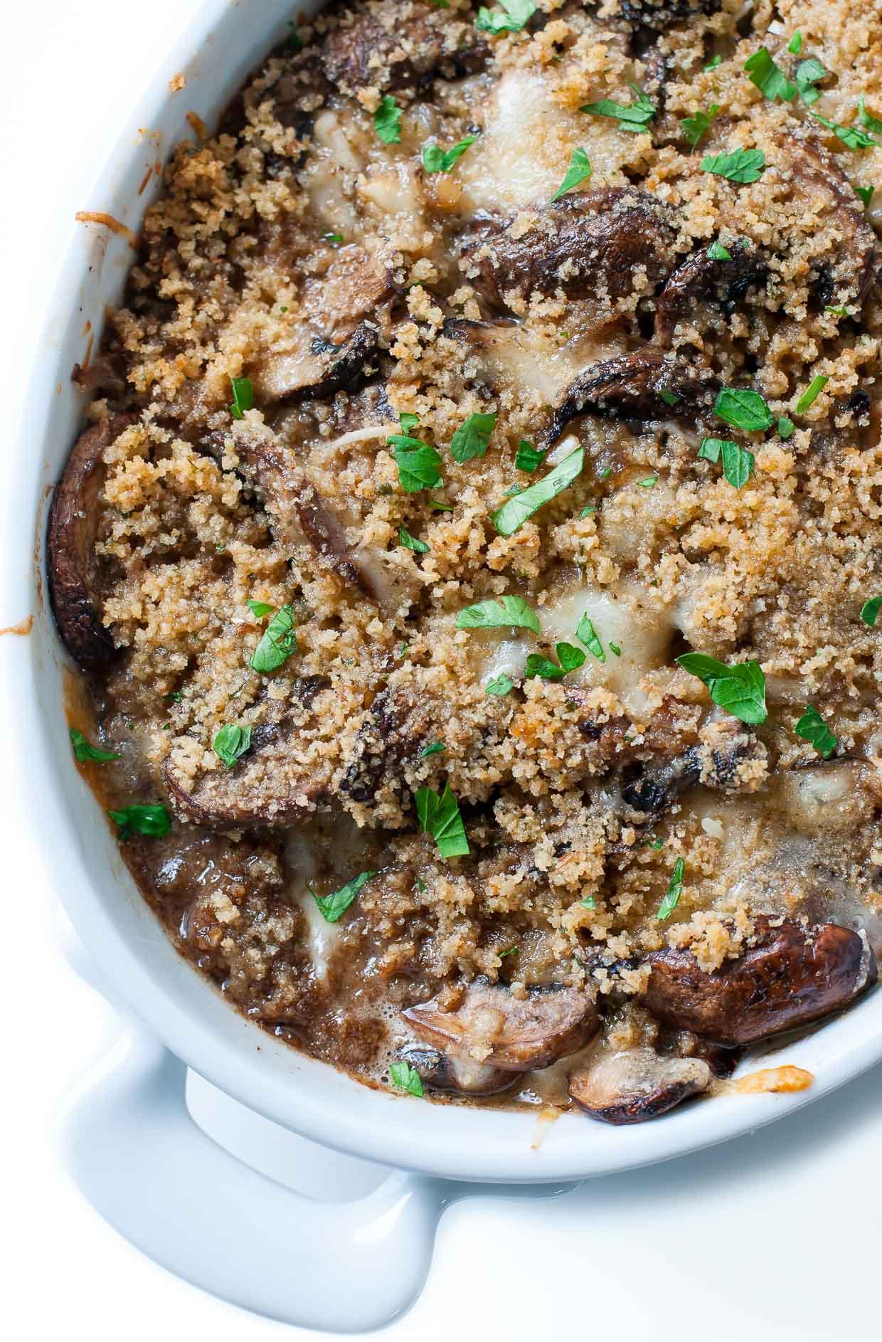 Stuffed Mushroom Casserole | Delicious And Easy Fall Recipes I Homemade Recipes | Cozy Dinner Ideas