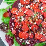 This healthy Carrot Beet Pecan Salad has quickly become one of our cold weather favorites!