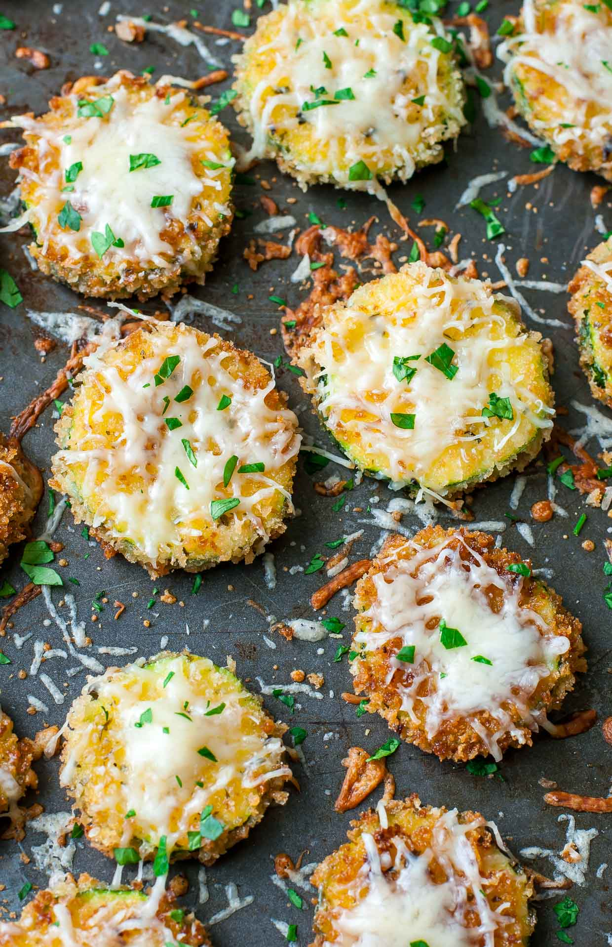 We're in love! Husband Approved Zucchini Parmesan - doubles as an appetizer and a main course