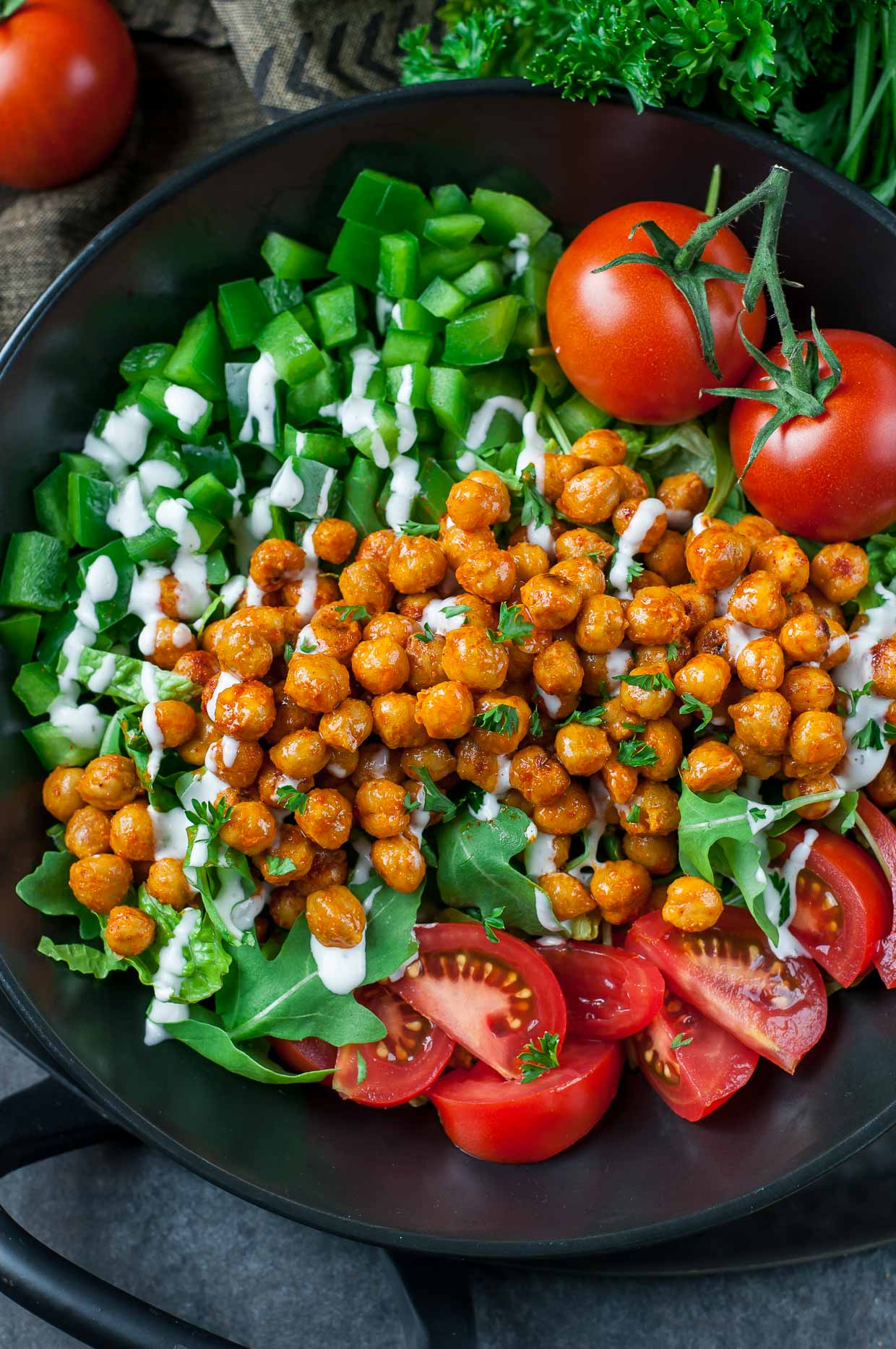 20 Easy Healthy Salad Recipes :: Buffalo Chickpea Salad