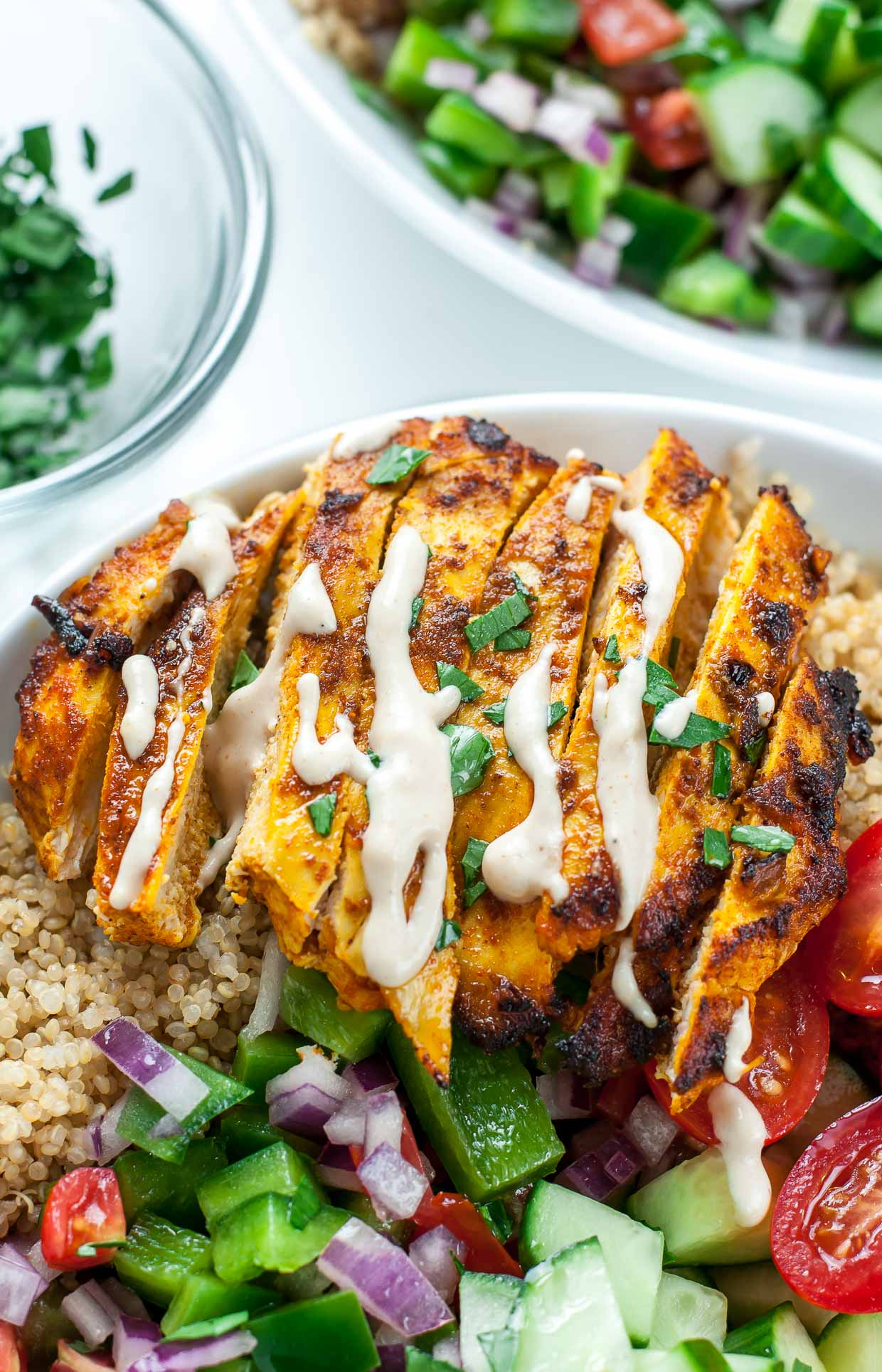Healthy chicken shawarma quinoa bowls peas and crayons healthy chicken shawarma quinoa bowls forumfinder Images