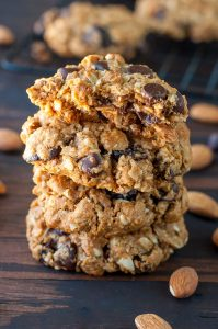 Healthy Chocolate Cherry Oatmeal Cookies