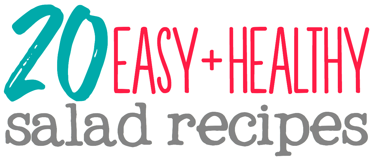 20 Easy Healthy Salad Recipes: with vegetarian, vegan, paleo, low-carb, and gluten-free options to choose from, there's something for everyone on this list! No more boring salads!