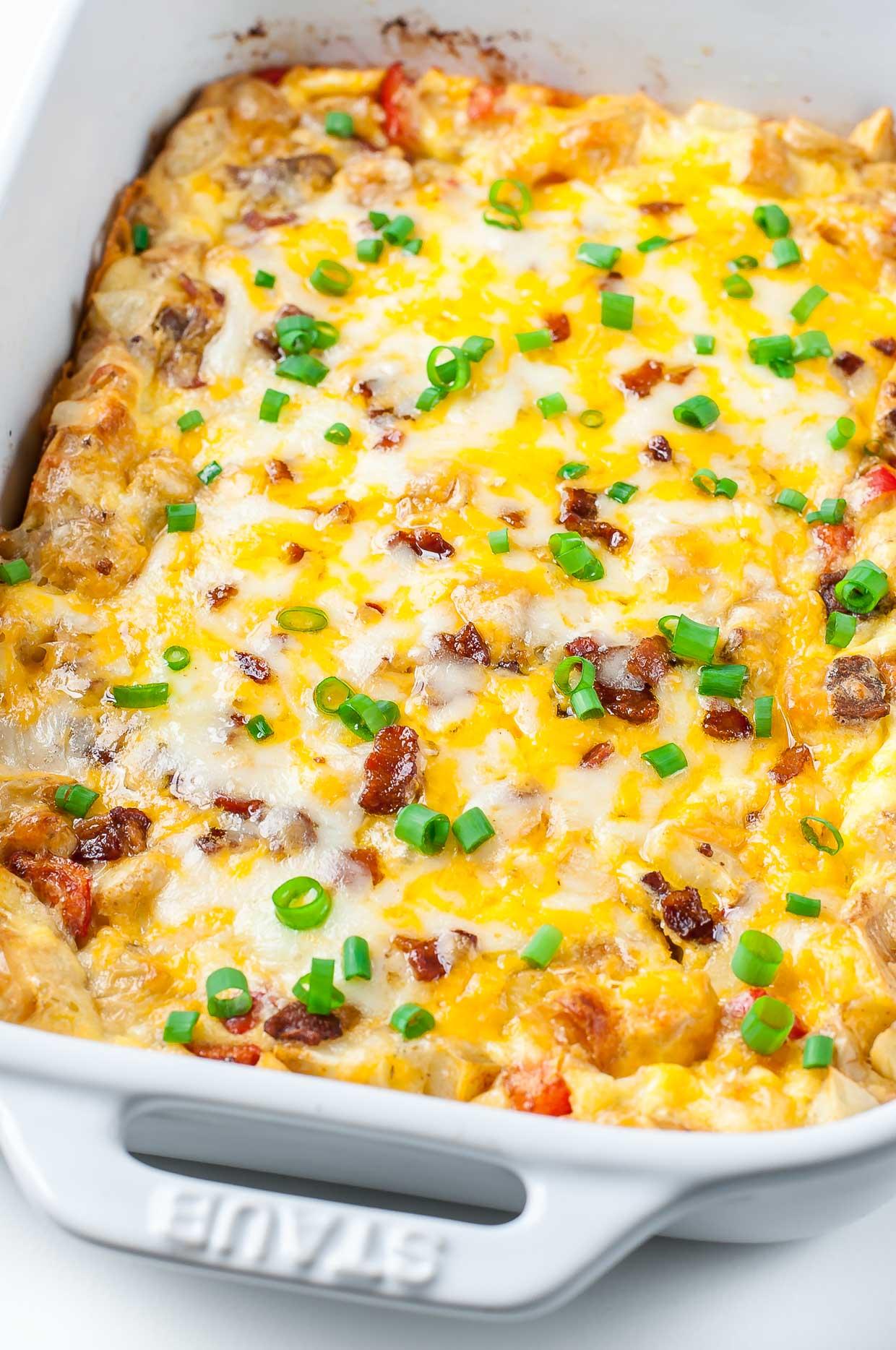 Cheesy Roasted Potato Breakfast Bake Peas And Crayons