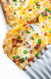 Cheesy Roasted Potato Breakfast Bake
