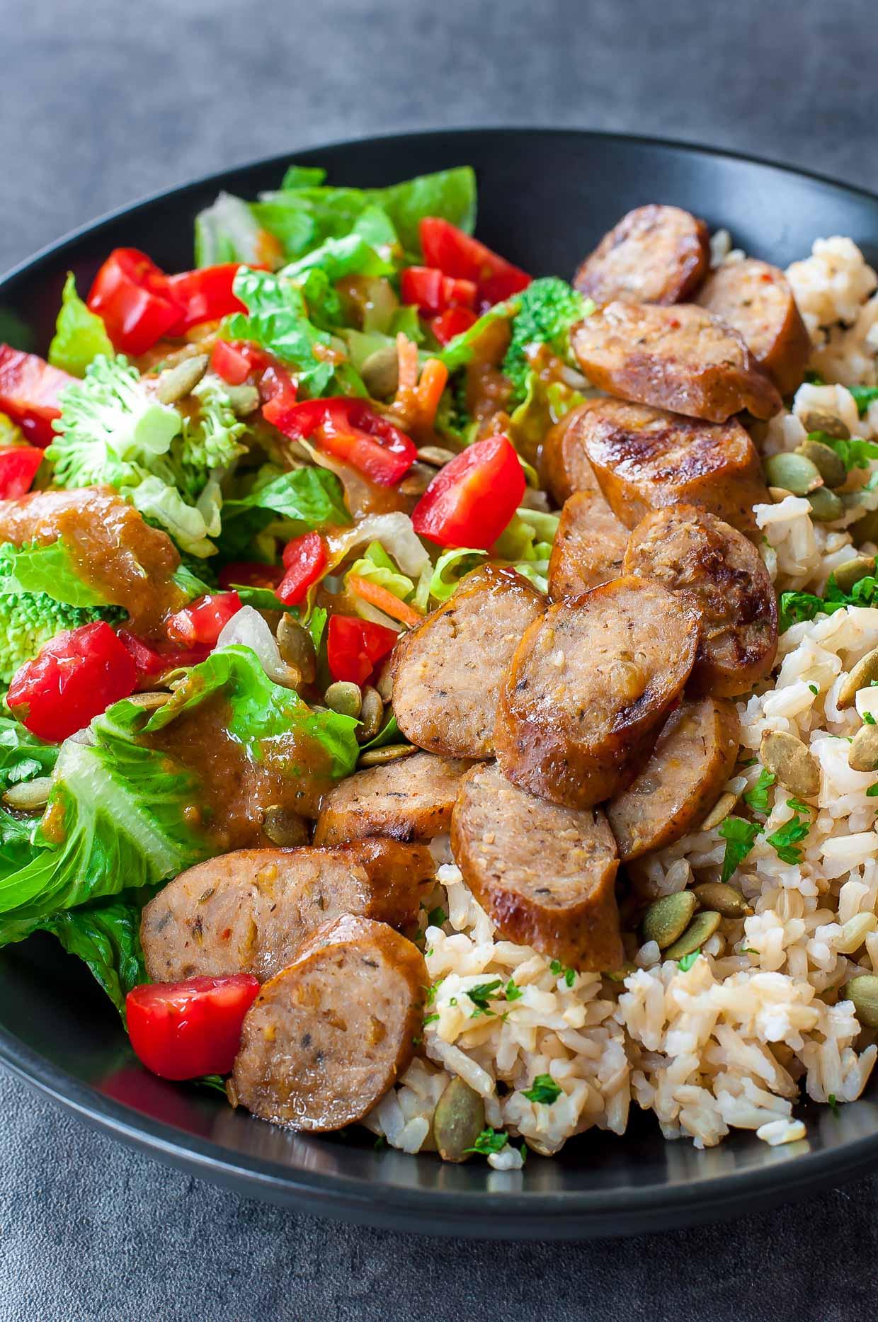 Sausage Veggie Rice Bowls