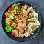 Sausage and Veggie Rice Bowls
