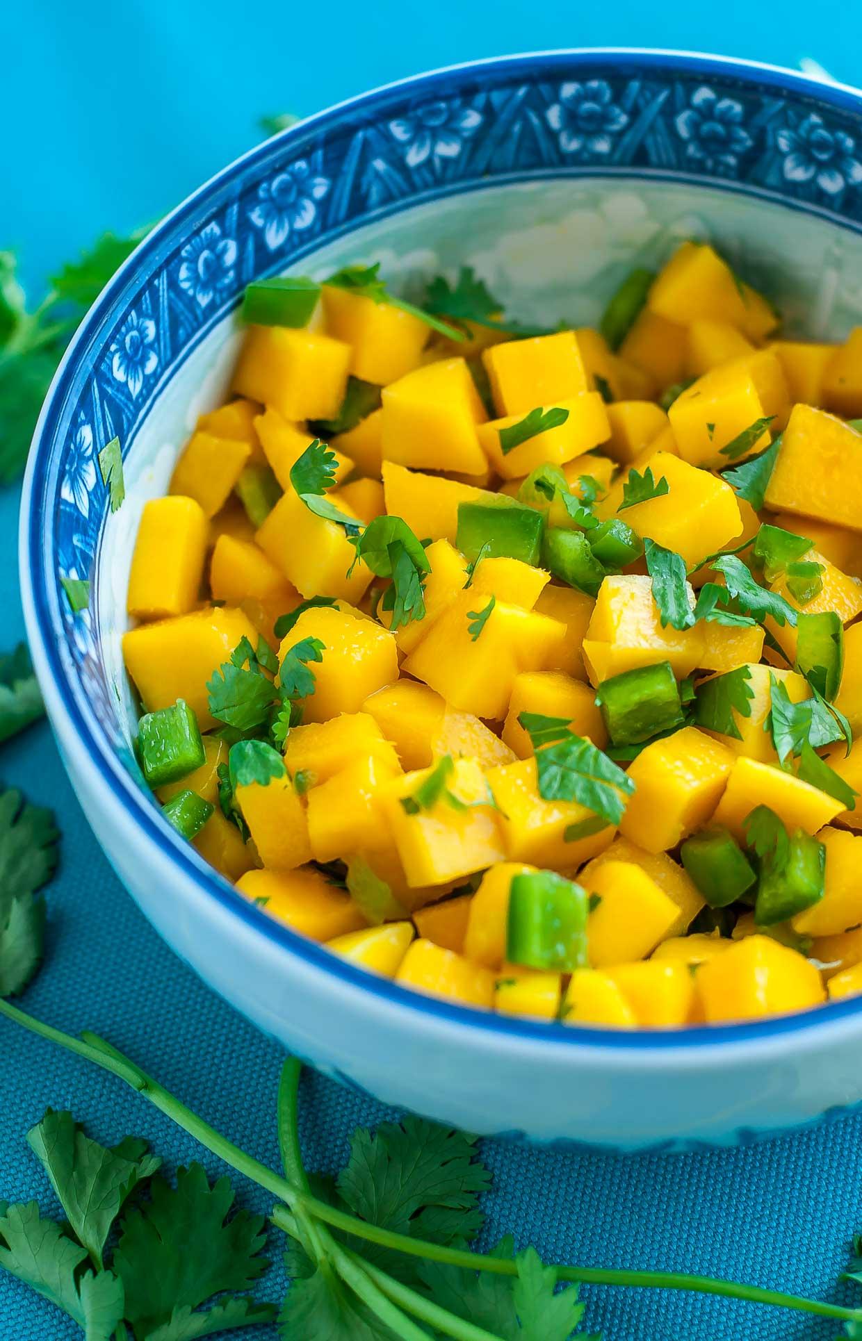 Quick + Easy Mango Jalapeño Salsa