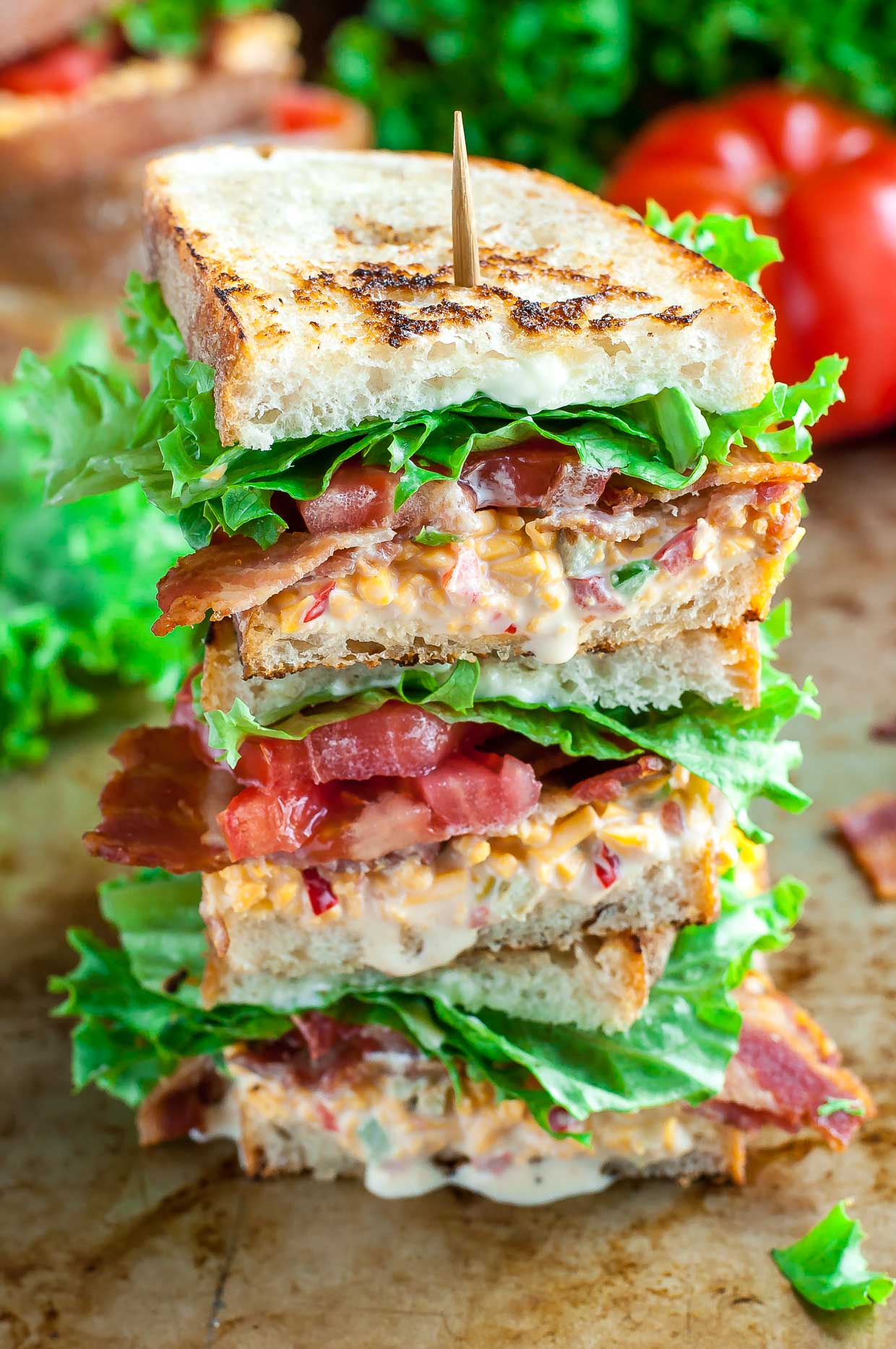 BLT Pimento Cheese Sandwiches