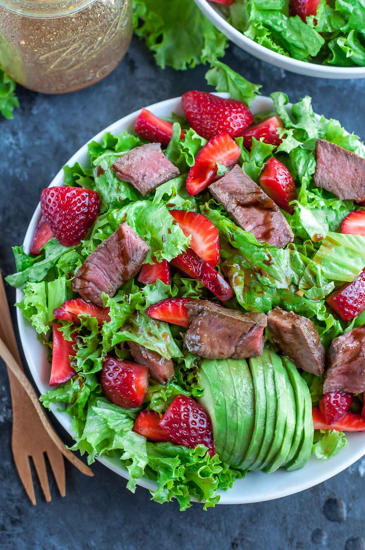 Strawberry Steak Salad With Homemade Balsamic Dressing