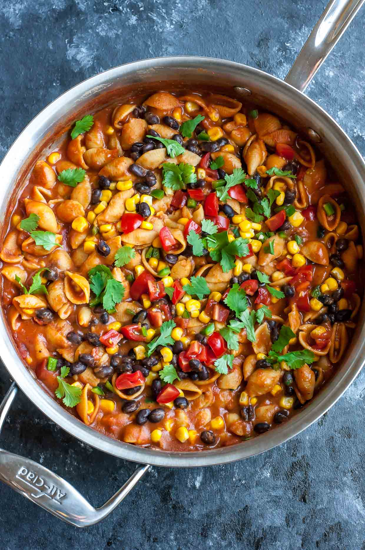 Healthy One Pot Enchilada Pasta Gluten Free Vegetarian