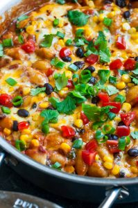 Healthy One-Pot Enchilada Pasta: Gluten-Free + Vegetarian