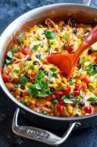 Healthy One-Pot Enchilada Pasta: Gluten-Free + Vegetarian