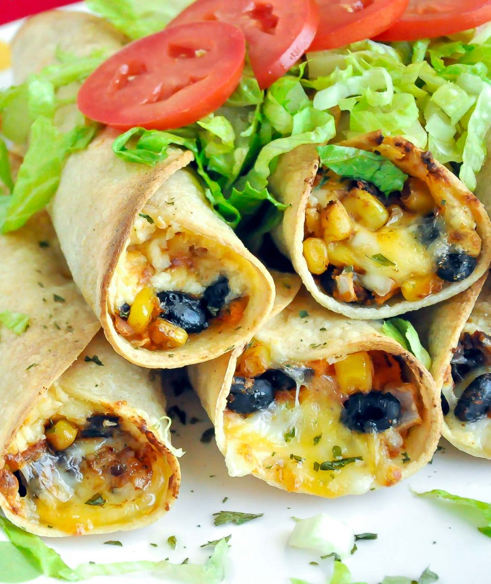 Our Best Black Bean Recipes - Baked Vegetarian Flautas