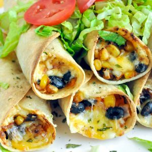 Baked Vegetarian Flautas
