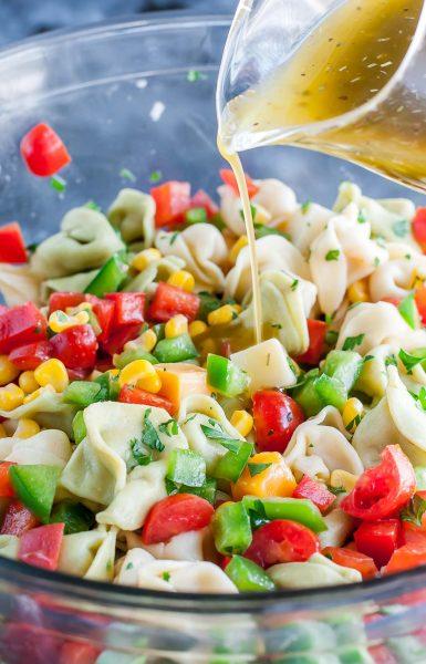 Garden Veggie Tortellini Pasta Salad