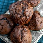 These Bakery-Style Double Chocolate Banana Muffins are fabulously fluffy and flavorful!