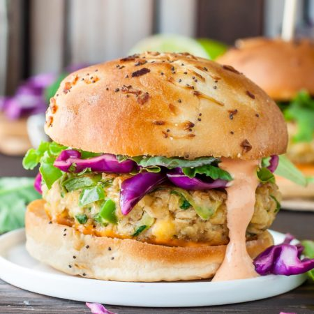 Spicy Chickpea Veggie Burgers with Jalapeño and Zucchini