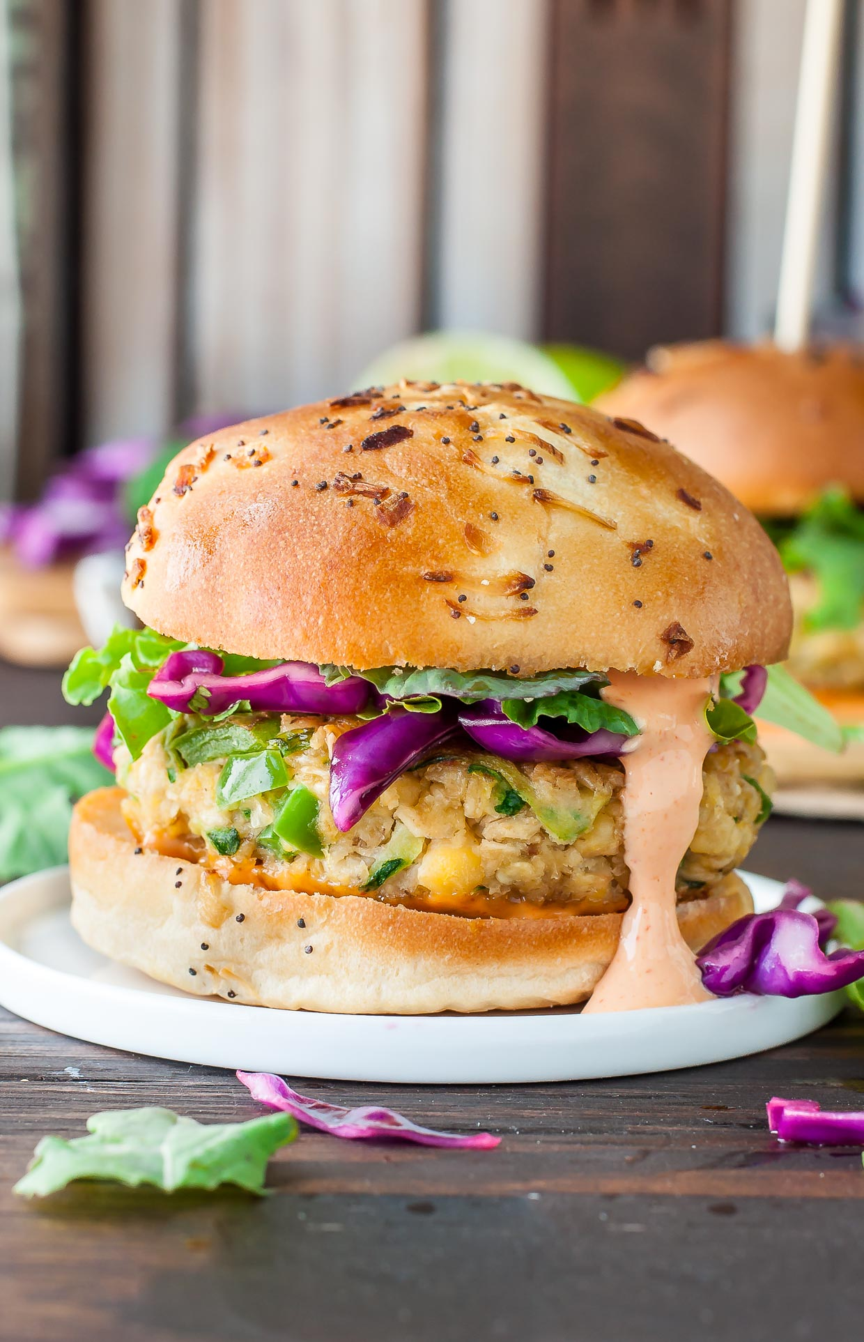 Spicy Chickpea Veggie Burgers With Jalapeno And Zucchini