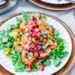 Cilantro Lime Shrimp Salad with Strawberry Salsa